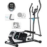 ISE Vélo elliptique d'appartement Magnétique Crosstrainer Adulte, écran LCD, Pulsomètre, 8 Niveaux de Résistance,...