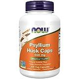 NOW 500 mg Psyllium Cosses 200 Gélules