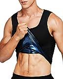 IFLOVE Débardeur de Sudation pour Homme Gilet de Minceur Fitness T-Shirt Effet Sauna Sport Body Shaper 2XL-3XL - Noir