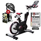 Sportstech SX600 vélo Appartement + Console Intelligente Android, système de freinage magnétique,Volant avec Un Poids...