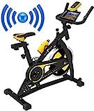 Bluetooth Nero Sports Vélo d'exercice aérobique Vélo de Fitness cardiovasculaire intérieur…