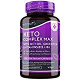 Keto Complex Max – Huile TCM, Thé Vert, Vitamines et Minéraux – Compatible avec des régimes pauvres en Glucides...