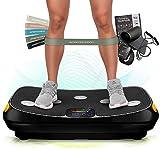 Sportstech VP400 Plateforme Vibrante Oscillante Professionnelle Fitness avec Technologie de Vibration 4D, fréquence...