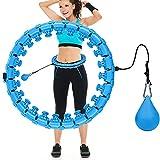 Comius Sharp 24 Sections Hula Fitness Hoop Cerceaux de Hula Fitness pour des Exercices de Fitness Cerceau de Fitness,...