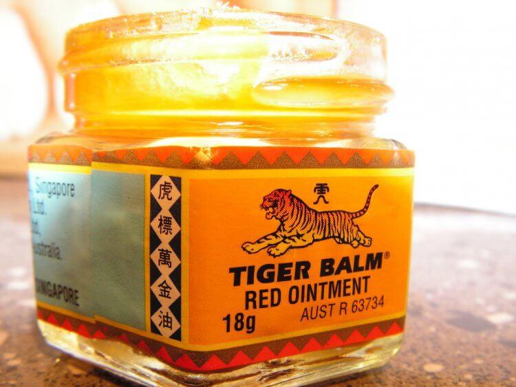 baume du tigre rouge pour faire du sport