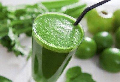jus minceur aux légumes verts