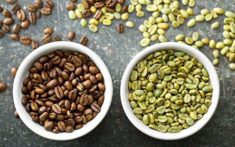 café noir et café vert